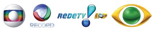 Rede Globo, Rede Record, Rede TV e Rede Bandeirantes