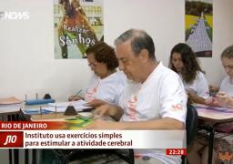 Reportagem da Globo News mostrou benefícios da ginástica cerebral para idosos