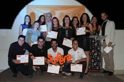 Consultores comerciais do SUPERA em Premiação realizada em janeiro de 2016