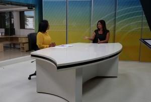 Entrevista na TV Difusora, afiliada do SBT em São Luís (MA)