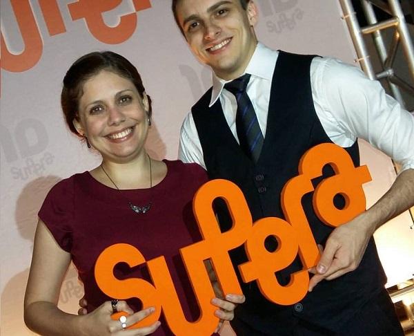 Beatriz e Bernard no Jantar de Premiação da Convenção Nacional de Franqueados SUPERA 2015