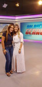 Tathiana, franqueada do SUPERA Tijuca, em entrevista no Balanço Geral, da Record