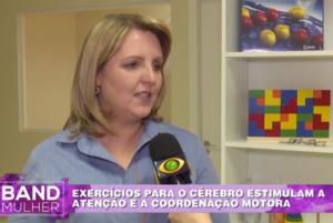 Denise Bayer, do SUPERA Hauer, em Curitiba, cede entrevista à Band Mulher