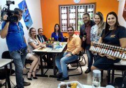 Gravação de matéria para a Rede Globo na Franquia de Curso SUPERA Goiânia em Jd. Goiás.