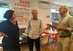 Paulo e Ivana Wandenkolk recebem Antônio Carlos Perpétuo na unidade SUPERA Santos (SP)