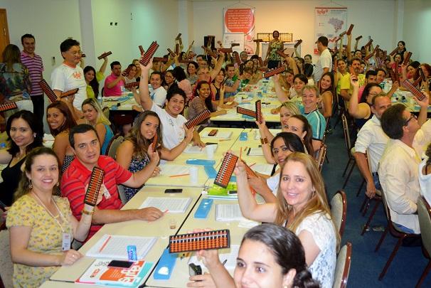 Educadores da Franquia de Escola participam de treinamento em São José dos Campos (SP), cidade da sede franqueadora