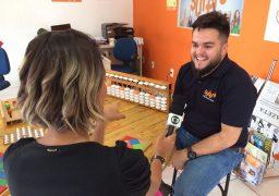 José Pedro Duarte, franqueado do SUPERA Montes Claros, em entrevista para a afiliada da Rede Globo na região