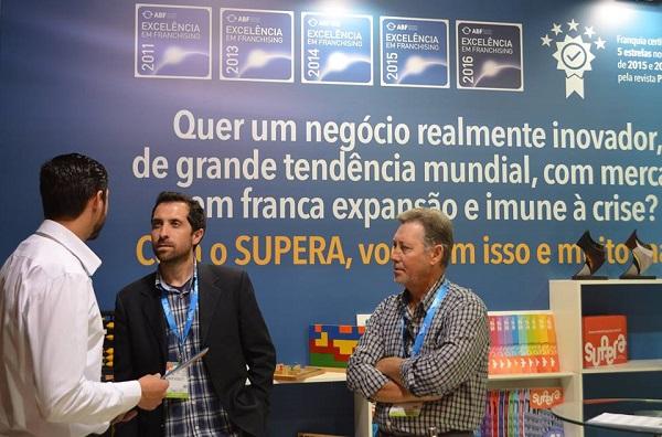 Estande do SUPERA na ABF Expo 2016 - Melhores Franquias