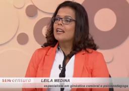 A apresentadora do programa, Leda Nagle, se interessou pelas neuróbicas